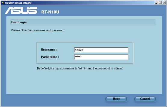 router net login