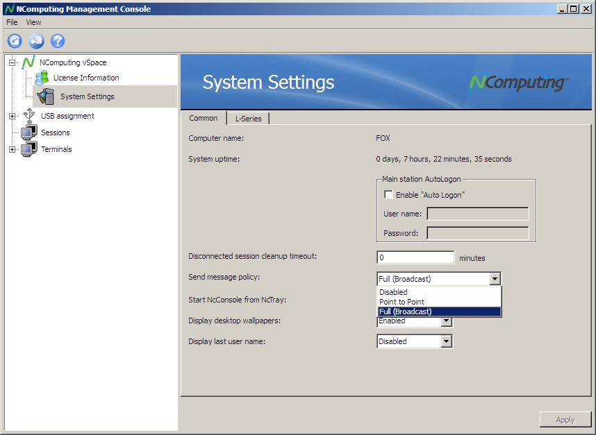 Thin client NComputing L300