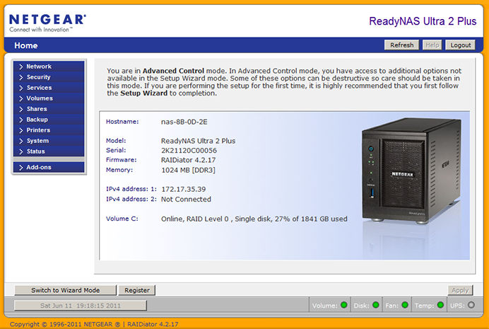 NETGEAR ReadyNAS Ultra 2 Plus or a speedy two-bay storage