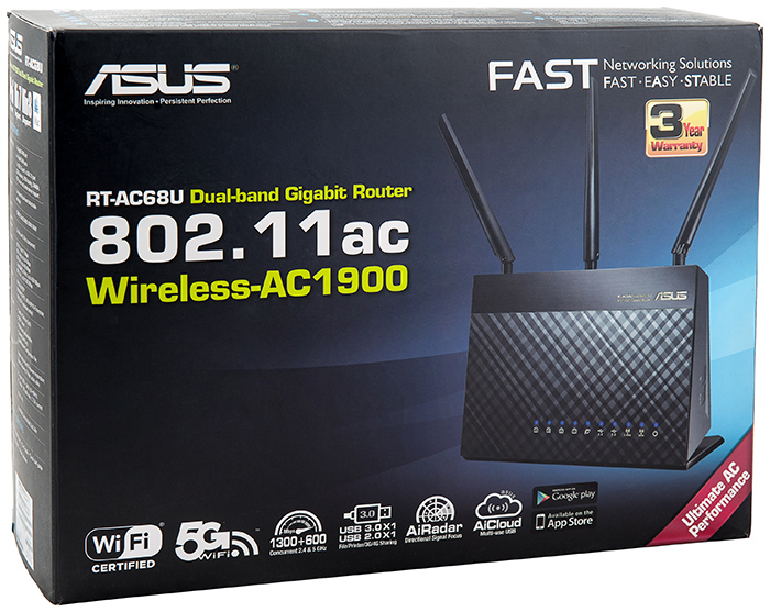 The New Wireless Flagship Device or ASUS RT-AC68U